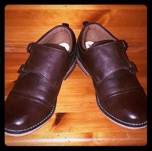 Steve Madden Boys Double Strap Velcro  Dress Shoes